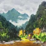 油画风景头像 高清漂亮的唯美头像风景油画图片