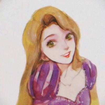 彩绘图片人物女生头像