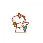 高清卡通的可爱q版独角兽头像图片
