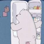 裸熊可爱卡通头像单人 天太热了想把自己放冰箱