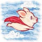 卡通猪猪微信头像 高清可爱超萌的动画猪猪头像图片