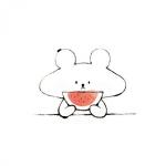 吃瓜萌图头像 超清可爱的可爱卡通吃瓜头像图片