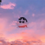 可爱创意头像图片 可爱卡通人物加唯美风景图片组成的头像