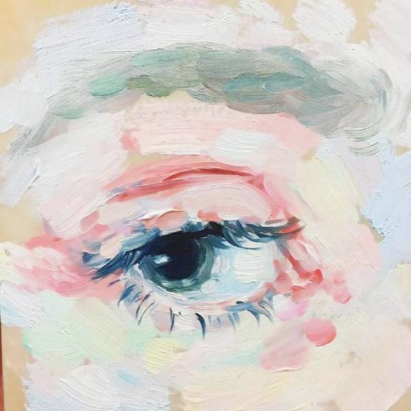 手绘眼睛头像
