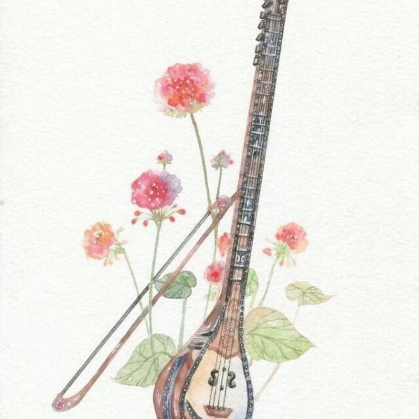 唯美古风乐器头像