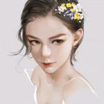 精美手绘人物头像 超清手绘的唯美艺术人物头像图片
