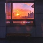 唯美窗边风景图片头像 窗外那一道美丽的风景