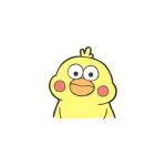 卡通小黄鸭头像 超清小黄鸭头像可爱的q版图片
