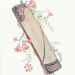 唯美古风乐器头像 超清绘画的古风乐器图片唯美头像