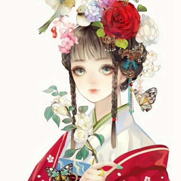 唯美风格动漫图片头像女生