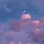 粉色系月亮云朵风景头像图片
