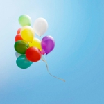 气球风景微信头像,高清好看的七彩气球微信风景头像图片