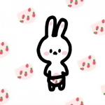 卡通头像兔子可爱萌,乖巧的可爱兔子萌图头像