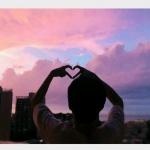 高清唯美的情侣头像夕阳背影单人图片
