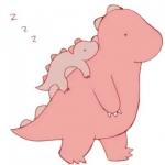 情侣头像恐龙一对 小恐龙在大恐龙背上的图片头像