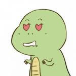 恐龙头像情侣 一对两张可爱两只小恐龙的情侣头像图片
