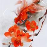 锦鲤微信头像 高清手绘的唯美带来好运锦鲤头像图片