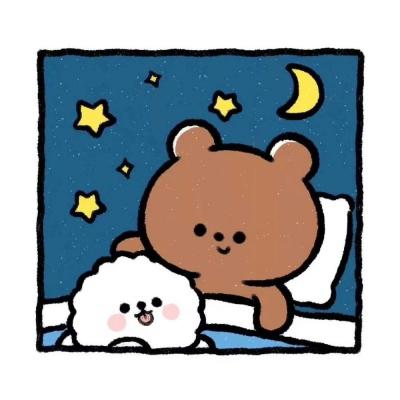 可爱萌萌的小熊头像图片
