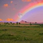 彩虹风景头像 高清唯美幸运的彩虹头像高清图片