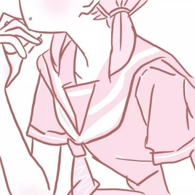 动漫部位头像女生