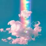 高清好看的梦幻唯美彩色云朵头像图片