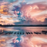 黄昏海边风景头像 高清好看的海边夕阳黄昏唯美图片头像
