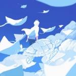 二次元蓝色系男生头像 高清有意境的蓝色二次元动漫男头图片
