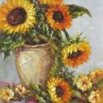 高清好看的向日葵油画头像图片