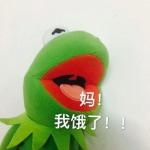 高清丧系的绿青蛙带字表情包图片头像