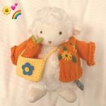 高清可爱的网红毛绒玩具小绵羊头像图片