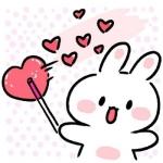 高清卡通的可爱兔子头像卡哇伊图片