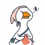 qq可爱鸭子头像 高清一只卡通的白色鸭子头像图片
