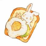 微信头像可爱卡通小兔子 高清超萌的漫画小兔子卡通头像图片
