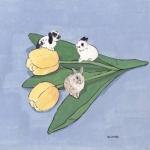 高清好看的小清新兔子手绘动漫头像图片