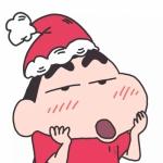 高清超萌的可爱蜡笔小新全员圣诞头像图片 团头组头
