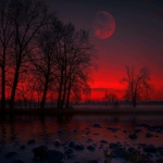 高清好看的红色系风景头像图片