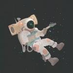 微信太空头像 高清科幻的宇航员太空漫步头像图片