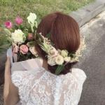 唯美新娘头部背影头像图片