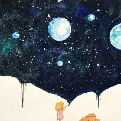孤独的小女孩漫画头像