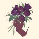 高清好看的唯美鲜花插画头像图片