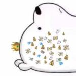 高清可爱的朋友圈小白熊拼图 一整套的微信朋友圈白熊图片头像