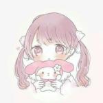 可爱抱小兔布偶的卡通闺蜜头像一对两张