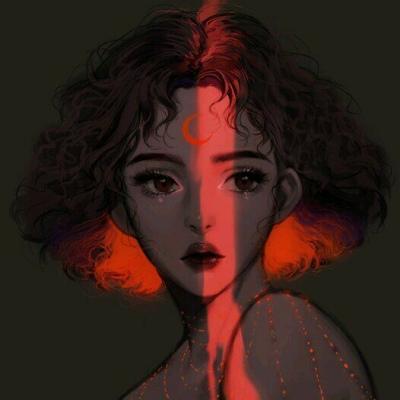 动漫卡通手绘头像女生