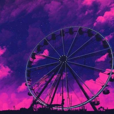微信专用紫色风景头像