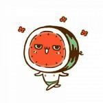 西瓜卡通头像 高清简约呆萌的可爱卡通西瓜头像图片