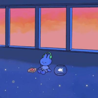 孤独兔子头像