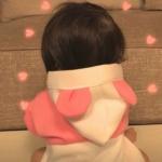 微信情侣头像萌娃背影 高清可爱的萌娃背影情侣头像一对两张