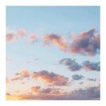 高清唯美傍晚云彩背景图片头像