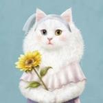 猫咪的微信头像 高清创意十足的微信卡通猫咪头像图片