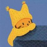 高清可爱戴帽子卡通情头图片 倾慕